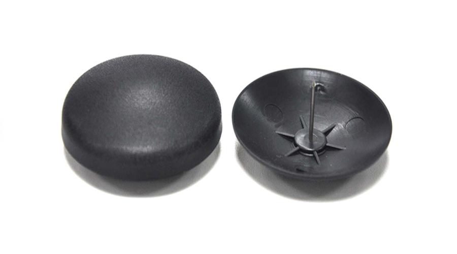 Warensicherung – Hartetikett Hard Tag Schwarz Flat Dome